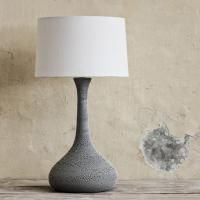 Teardrop Lamp Base Mudpan White