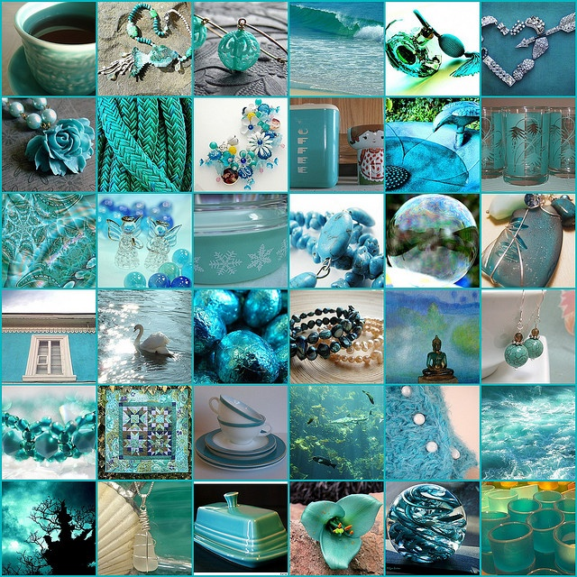 Can't get enough turquoise, teal, sea green