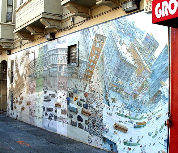 Best Everything San Francisco Images On Pinterest San - Weed murals slowly engulf urban buildings mona caron