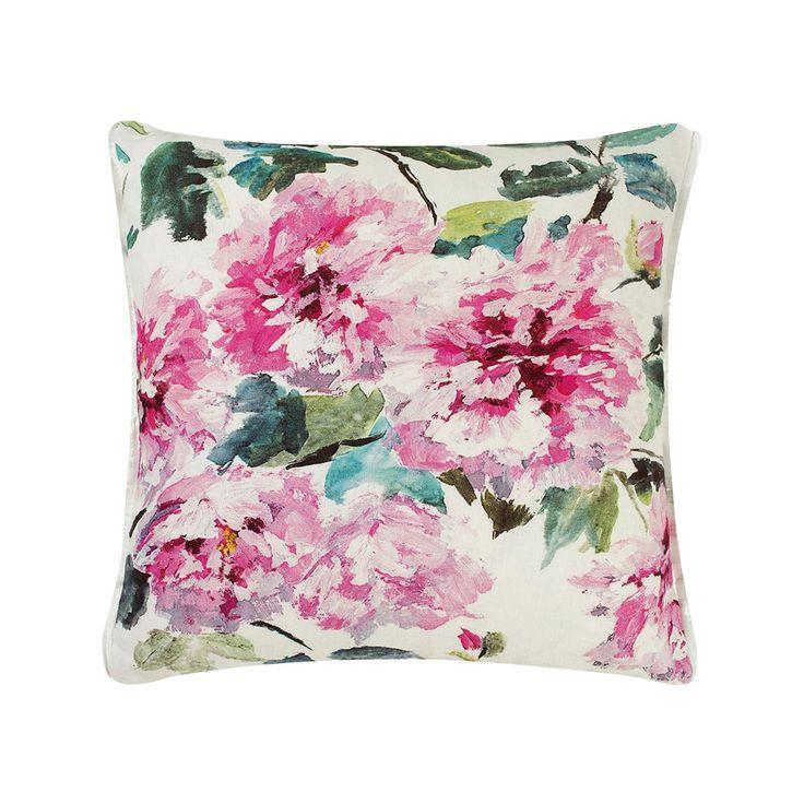 Shanghai Garden Peony Cushion, Designers Guild