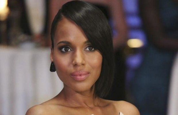 Olivia Pope hair. French roll in back.