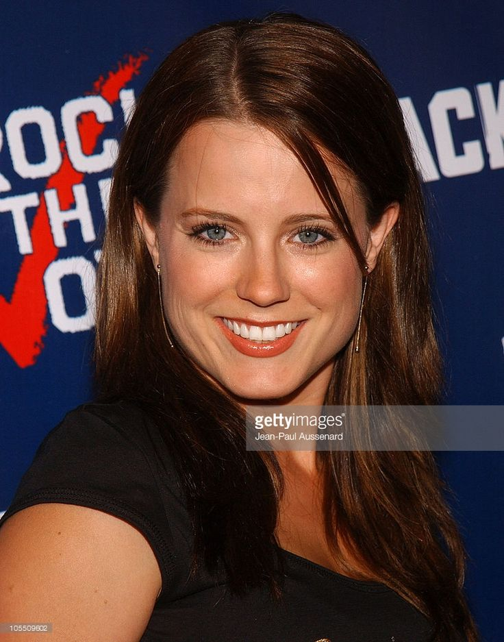 Allison Munn during The WB Network's 'Jack and Bobby' Rock the Vote Party - Arrivals at Warner Bros. Studios in Burbank, California, United States.