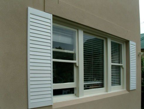 Plantation timber and security shutters plantation shutters shutters australian homes for Exterior shutter installation cost
