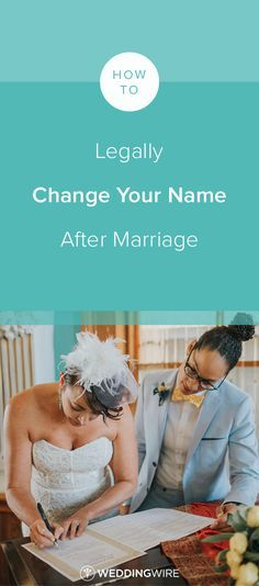 How to Legally Change Your Name After Marriage - From bank cards to your doctor's office, see all the places you should notify if you change your last name on @weddingwire! {Love is Rad}