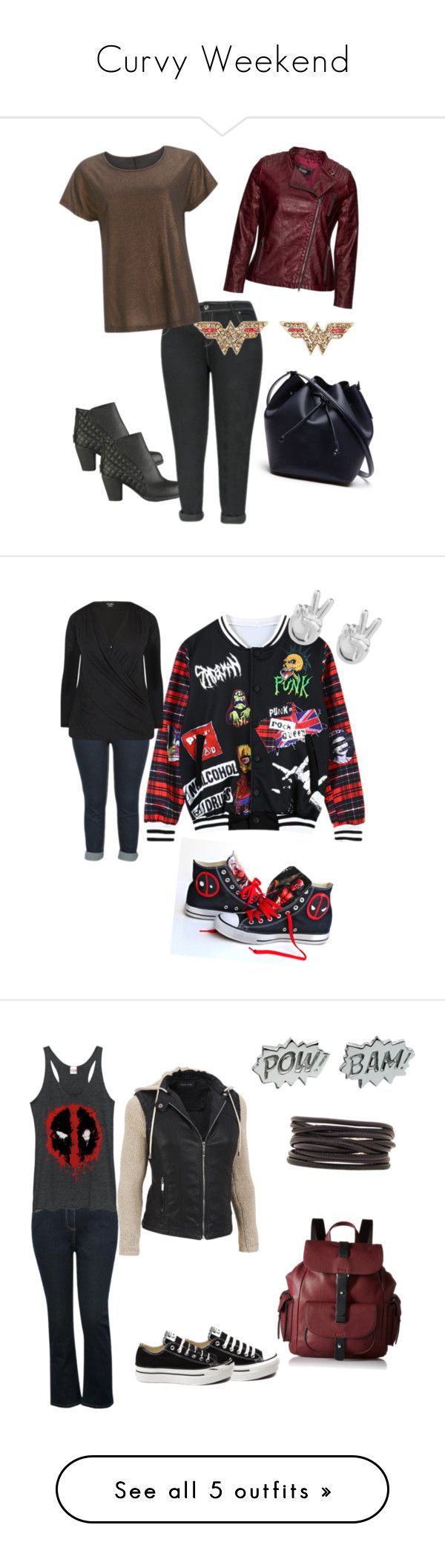 """""""Curvy Weekend"""" by lynetteamaro on Polyvore featuring Frapp, Lacoste, Chicnova Fashion, Converse, City Chic, Rock 'N Rose, plus size clothing, M&Co, Fifth Sun and Isabel Marant"""