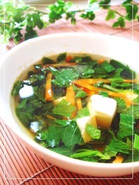 栄養たっぷり❤モロヘイヤの和風スープ