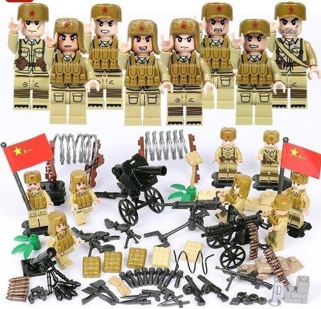 WW2 Battle MMilitary Japanese Army Soldier Figure MOC Building Blocks Kids Toys,