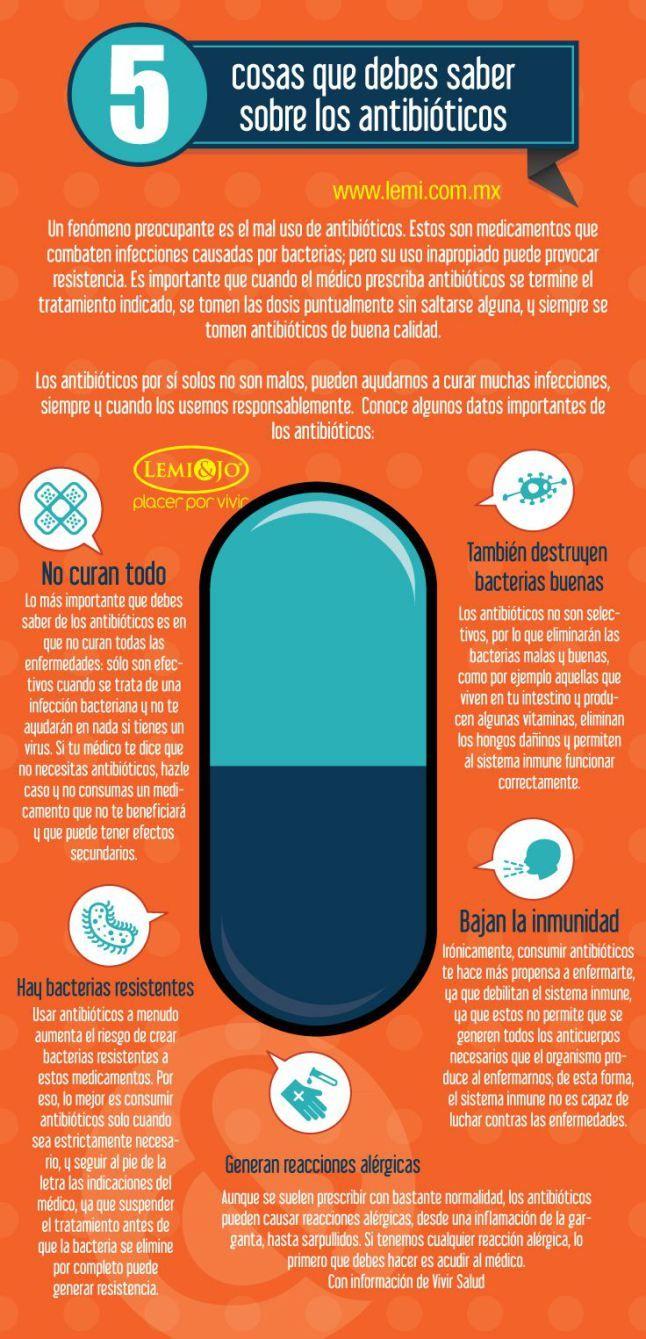 5 cosas que debe saber sobre los antibióticos #infografia #infographic #health