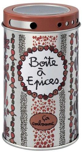 keladeco.com - Boite à épices ça embaume, boite de #rangement à #epices - DERRIÈRE LA PORTE