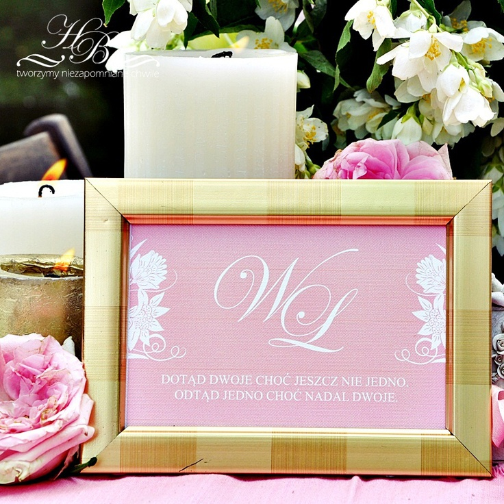 Wedding frame with the bride and groom initials