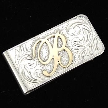 Custom Made Engraved Silver Gold Money Clip