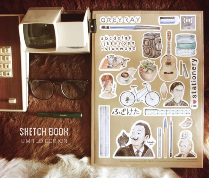 The Sketchbook Project Limited edition stickers by Nirancha Booranachoat