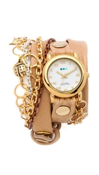 La Mer Collections Palm Springs Vintage Charms Watch $110