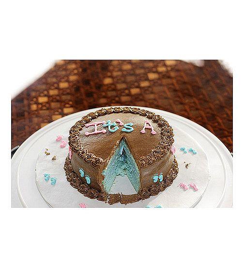 Cute idea! Gender Reveal cake - It's a....