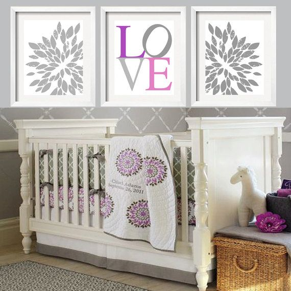 12 best Pottery barn purple nursery images on Pinterest | Baby girl ...