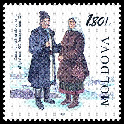 World Stamp Catalogue/Moldova/1998 - Winter traditional costume (XIX/XXth c.).