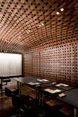 Bamboo Pelupuh Woven Wall & Ceiling