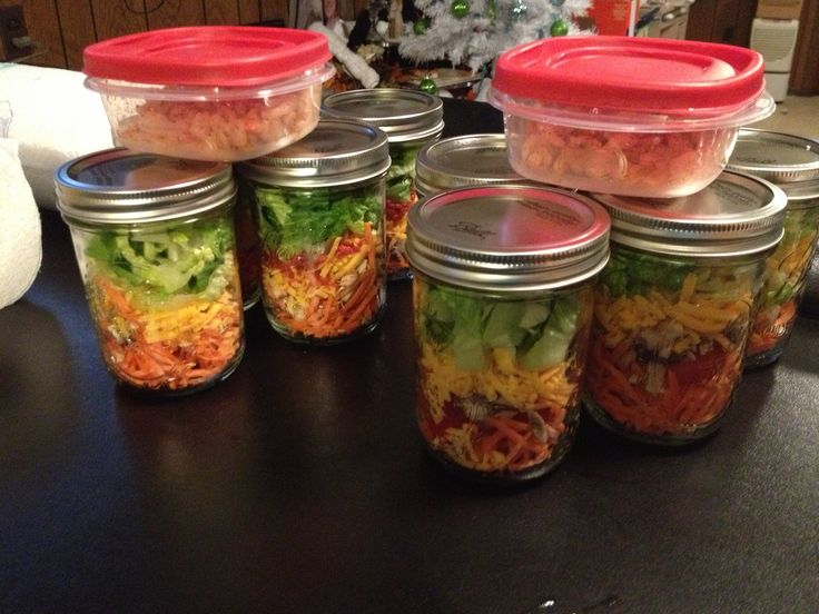 Travel salads... GREAT IDEA! My husband is a truck driver always on the road and hard to eat healthy now he can :)