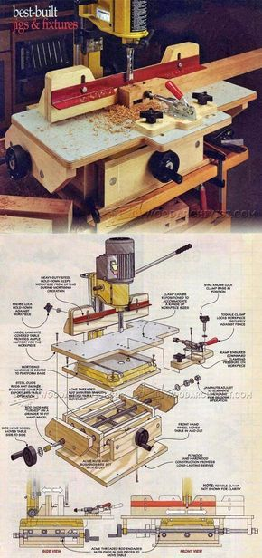 Precision Mortising Table Plans - Joinery Tips, Jigs and Techniques   WoodArchivist.com