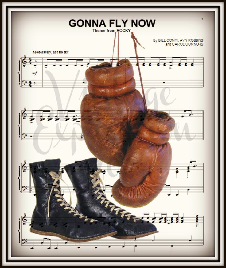 Gonna Fly Now, Rocky Balboa, on Lyric Song / Music Sheet, Print by…