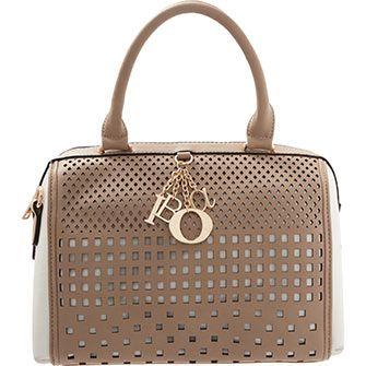 Taupe Perforated Grab Bag