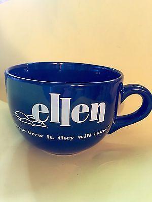 Ellen DeGeneres Disney World Buy The Book Black Oversize Mug Rare