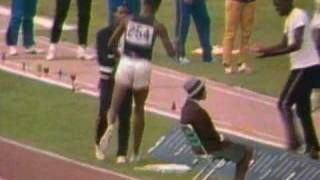 Bob Beeman breaks the Long Jump World Record at the Mexico Olympics in 1968