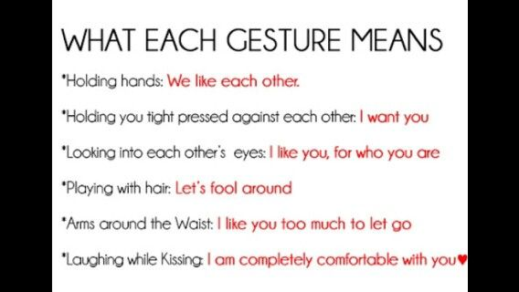 what do certain gestures mean in a relationship