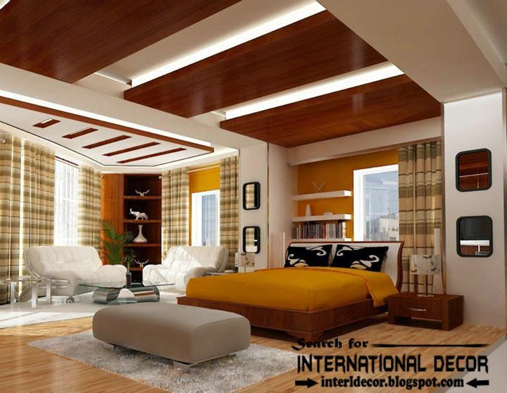 Contemporary pop false ceiling designs lighting for for Modern bedroom designs 2015