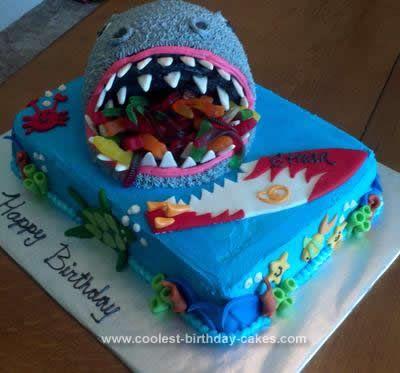 How To Make A Shark Birthday Cake