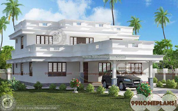 Single Story Flat Roof House Floor Plans