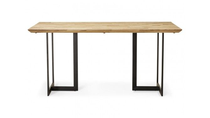 Table à dîner industrielle en chêne massif - Belton
