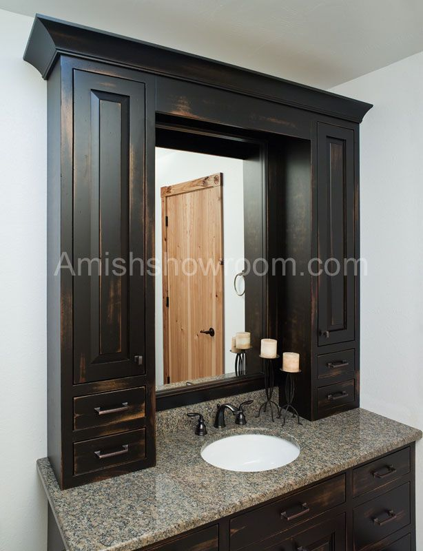 Amish Kitchen Cabinets | Raised Panel Overlay Door Style. Primitive  BathroomsCountry ...