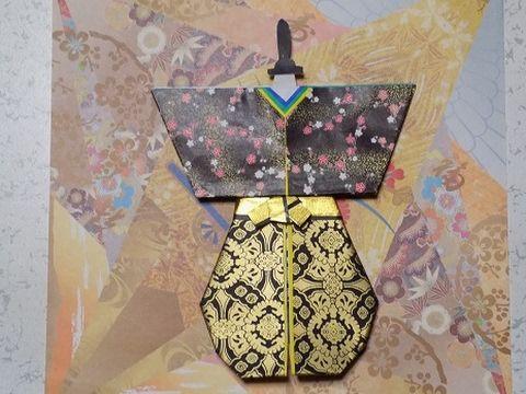 折り紙で雛祭り 立ち雛 男雛の折り方作り方 前半 Origami Hina Doll - YouTube