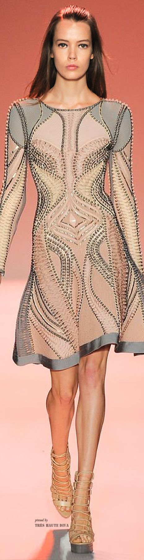 #NYFW Herve Leger Spring/Summer 2015 RTW - pin courtesy of Tres Haute Diva