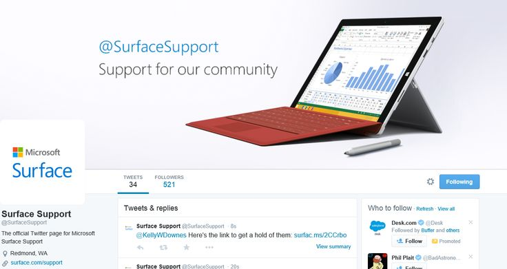 Having issues with your Surface tablet? Ask for support/solution