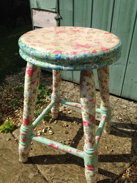 Charming Floral 'Shabby Chic' Decoupage by MollysPaperWorkshop, £30.00