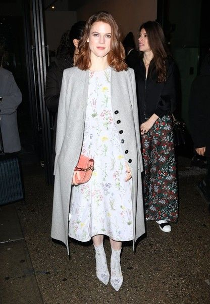 Rose Leslie Photos Photos - Rose Leslie spotted leaving her hotel in New York City, NY on February 12, 2017. The 'Game of Thrones' actress was looking polished with a matching dress and boots, and a long coat, - Rose Leslie Leaving Her Hotel In NY