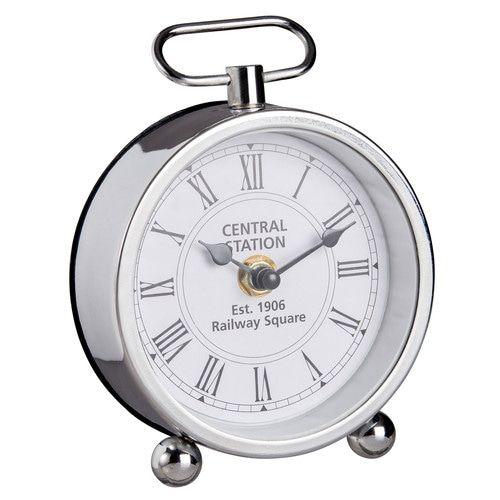 Horloge à poser en métal