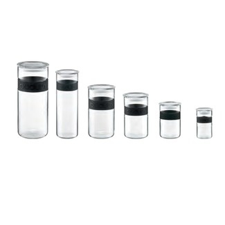 bodum assorted canisters, $99.95 for the set.  nice.