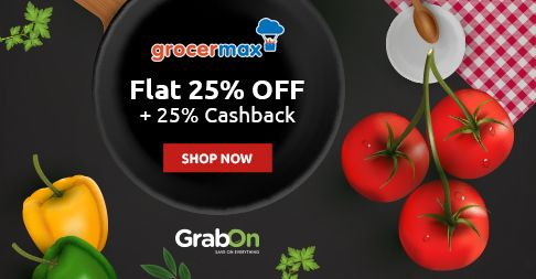 Maximize Your #Grocery Shopping With #Grocermax. Grab 25% Off + 25% Cashback Through @Paytm http://www.grabon.in/grocermax-coupons/