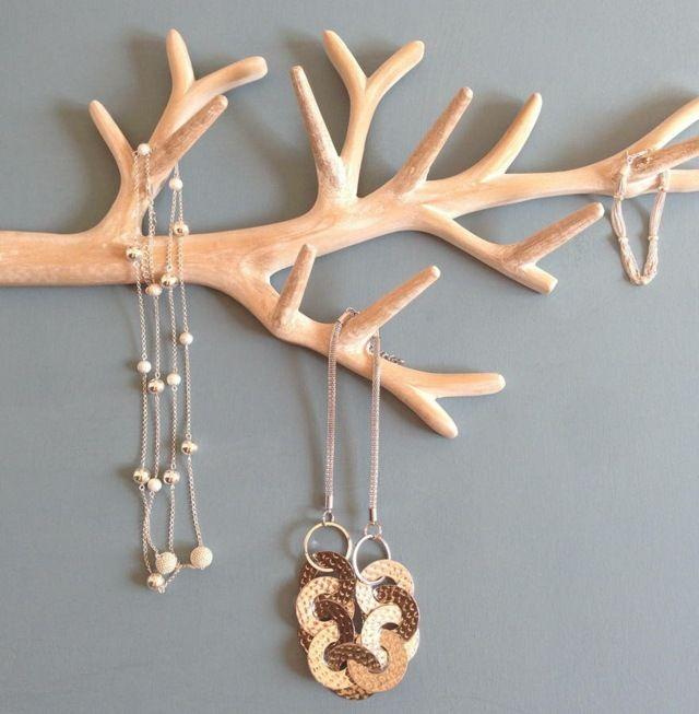 porte bijoux branche diy l gant et facile faire porte bijoux bijoux originaux et petites. Black Bedroom Furniture Sets. Home Design Ideas