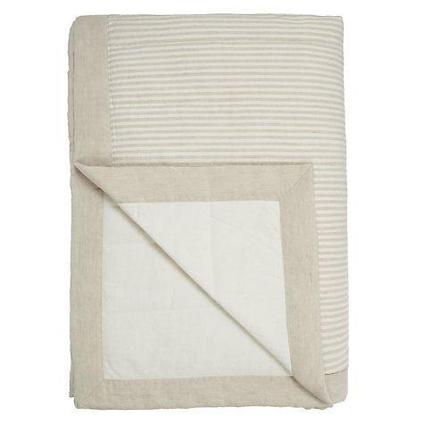 Buy John Lewis Croft Collection Washed Stripe Bedspread Online at johnlewis.com