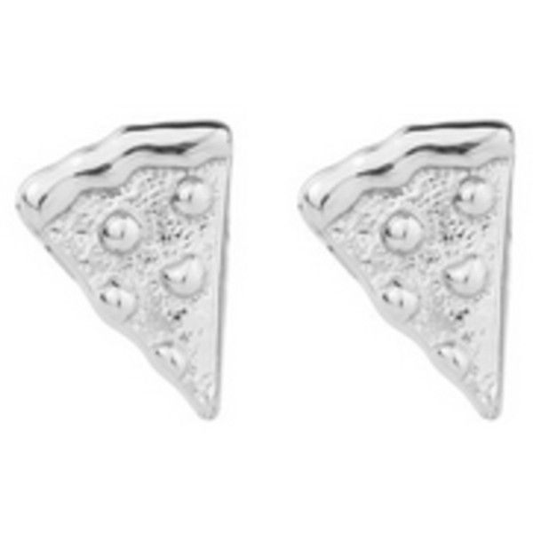 Rock N Rose Pizza Sterling Silver Emoji Earrings ($42) ❤ liked on Polyvore featuring jewelry, earrings, accessories, metallic, sterling silver stud earring set, stud earring set, monarch butterfly earrings, sterling silver jewellery and butterfly jewelry