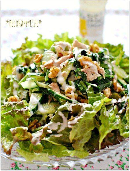 素敵にごはん Peco Happy Life : 未熟アボカド ツナとクリームチーズ和えのグリーンサラダ ← レシピへGO!