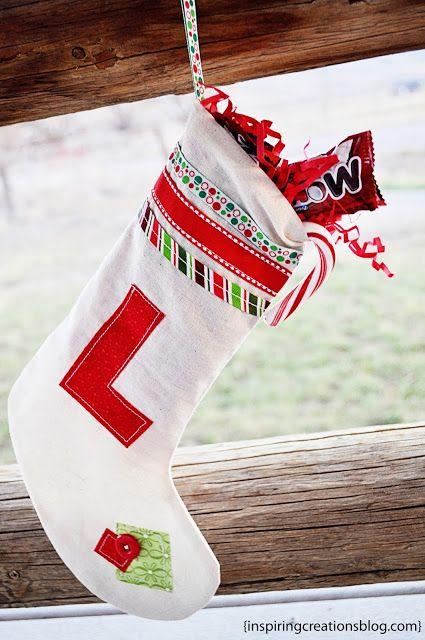 DIY Monogrammed Stocking