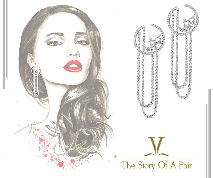 This one of its kind spectacular looking diamond earrings are designed to make you look like a women of sheer opulence.