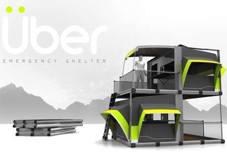 Flatpack Uber Shelters - Multi-Floor Emergency Shelter (GALLERY)