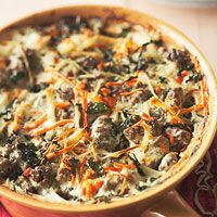 Creamy Meatball Casserole I would use more whole food ingredients but good concept!