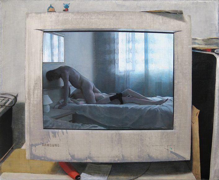 """Saatchi Art Artist: Jukka Siikala; Oil 2009 Painting """"Samsung"""""""